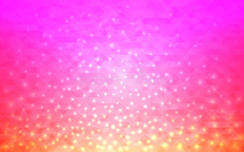 Magic abstract background. Blurred gradient with bright lights. Modern design for web or poster. Vector illustration stock illustration