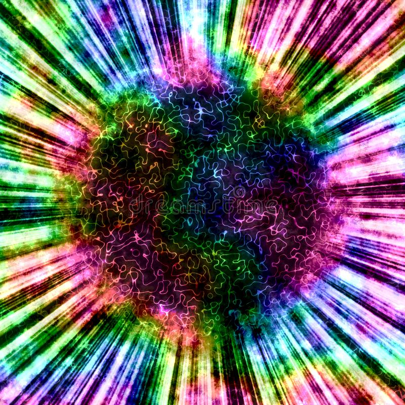 Magic abstract rainbow ball background. Or backdrop. Made in watercolor style royalty free illustration
