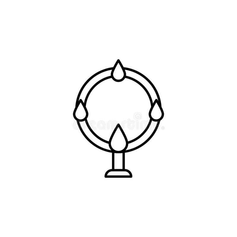 Magic acrobatic outline icon. Signs and symbols can be used for web, logo, mobile app, UI, UX royalty free illustration