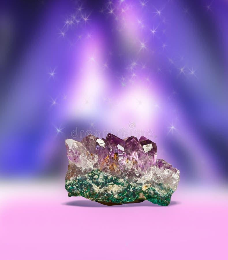 Magic amethyst royalty free stock photos