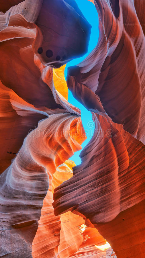 The Magic Antelope Canyon, Arizona stock photos