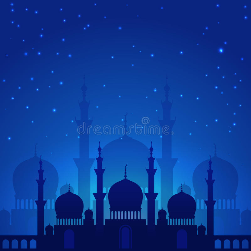 Magic arabian night stock illustration