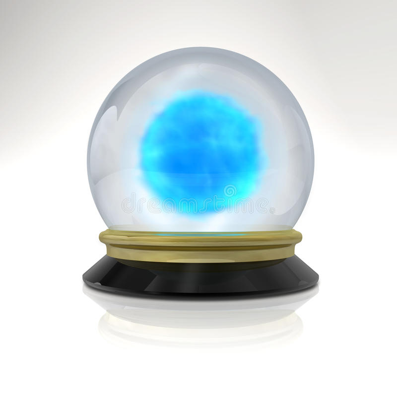 Magic ball with blue fog. Isolated magic ball with blue fog stock illustration