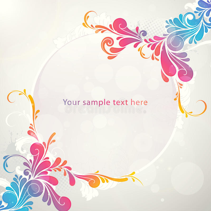 Magic Ball Colorful Pattern Banner Royalty Free Stock Photo