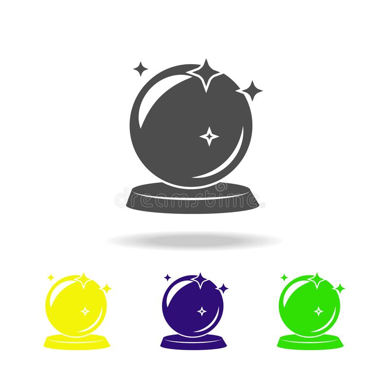 magic ball multicolored icon. Element of popular magic icon. Signs and symbols icon can be used for web, logo, mobile app, UI, UX stock illustration