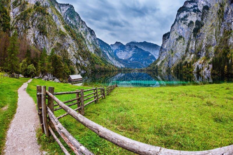 Magic blue lake Obersee royalty free stock photos