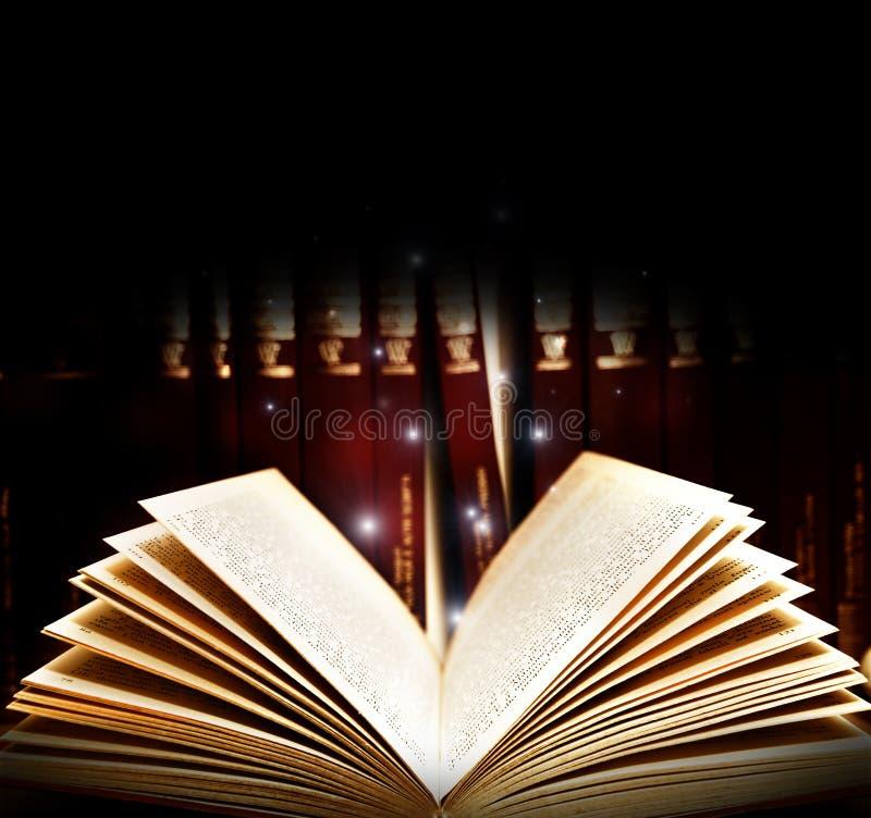Magic book. Of fantasy stories stock image