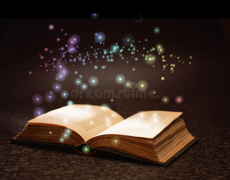 Magic book. On grunge background Photo taken on: March 31st, 2008 stock photo