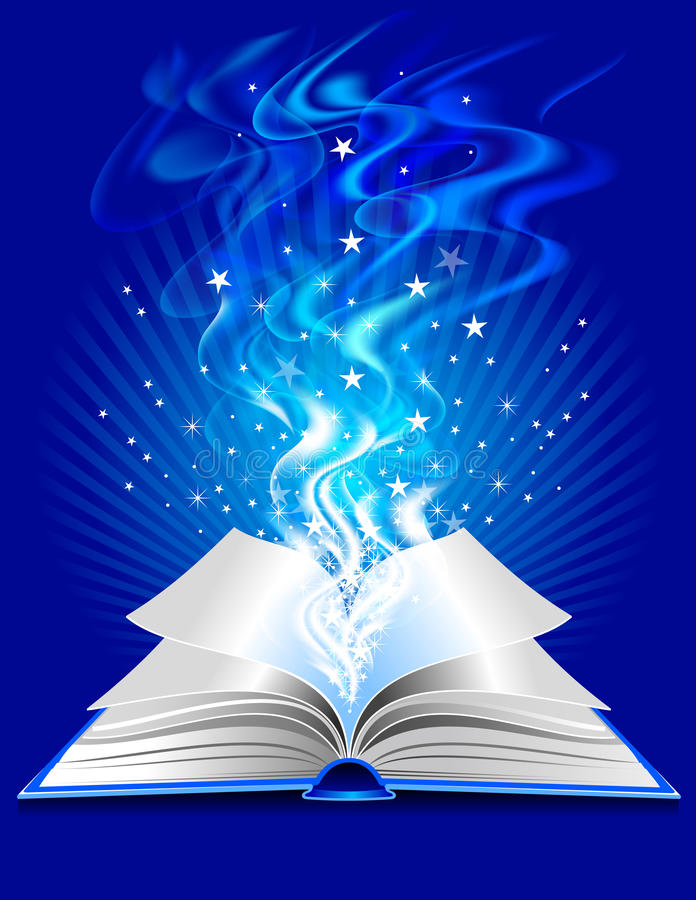 Download Magic book stock vector. Image of book, illustration - 16215918