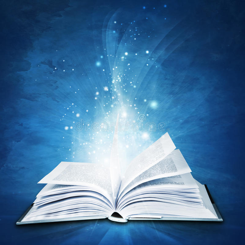 Magic book stock illustration