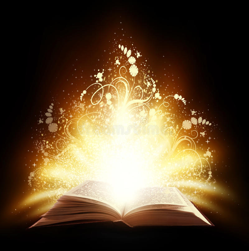 Magic book royalty free stock photos