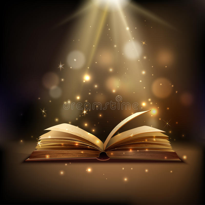 Magic Book Background vector illustration