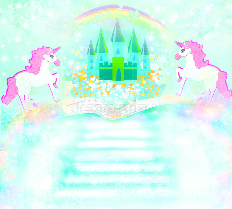 Download Magic Book Of Fantasy Stories Stock Illustration - Image: 32055041