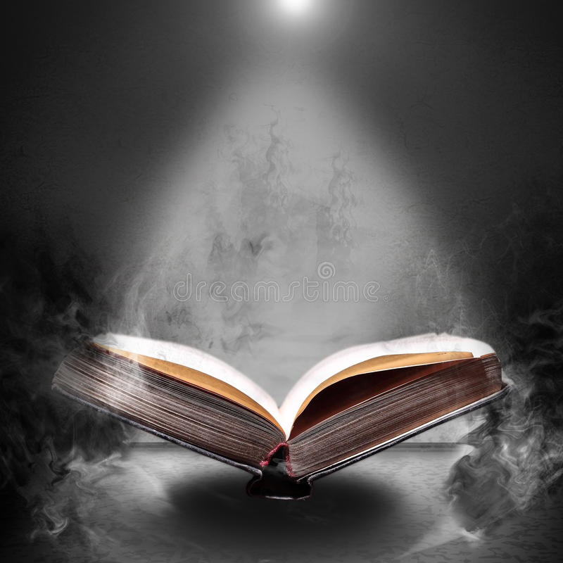 Free Magic Book Hovering In The Misty Haze Royalty Free Stock Image - 55446906