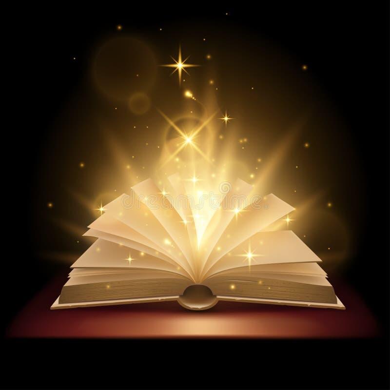 Magic book illustration stock illustration