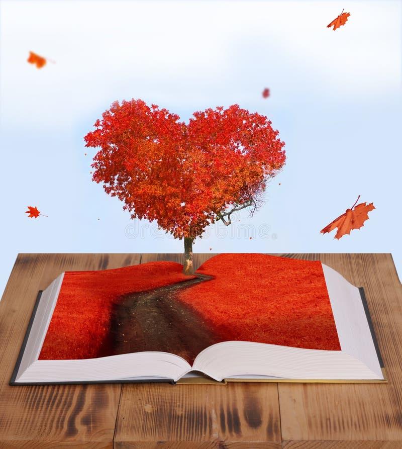 Magic book. Open magic book of nature royalty free stock photo