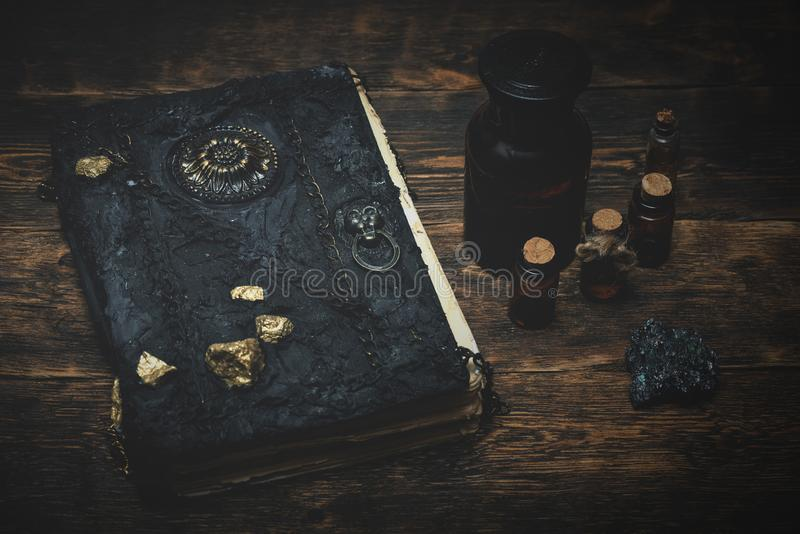 Magic book. royalty free stock images