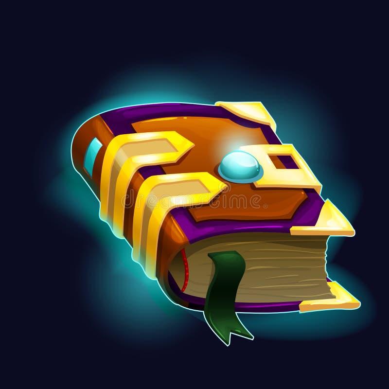 Magic book. Vector illustration. stock illustration