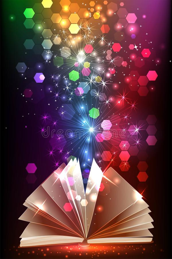 Free Magic Book With Light Stock Image - 93615031