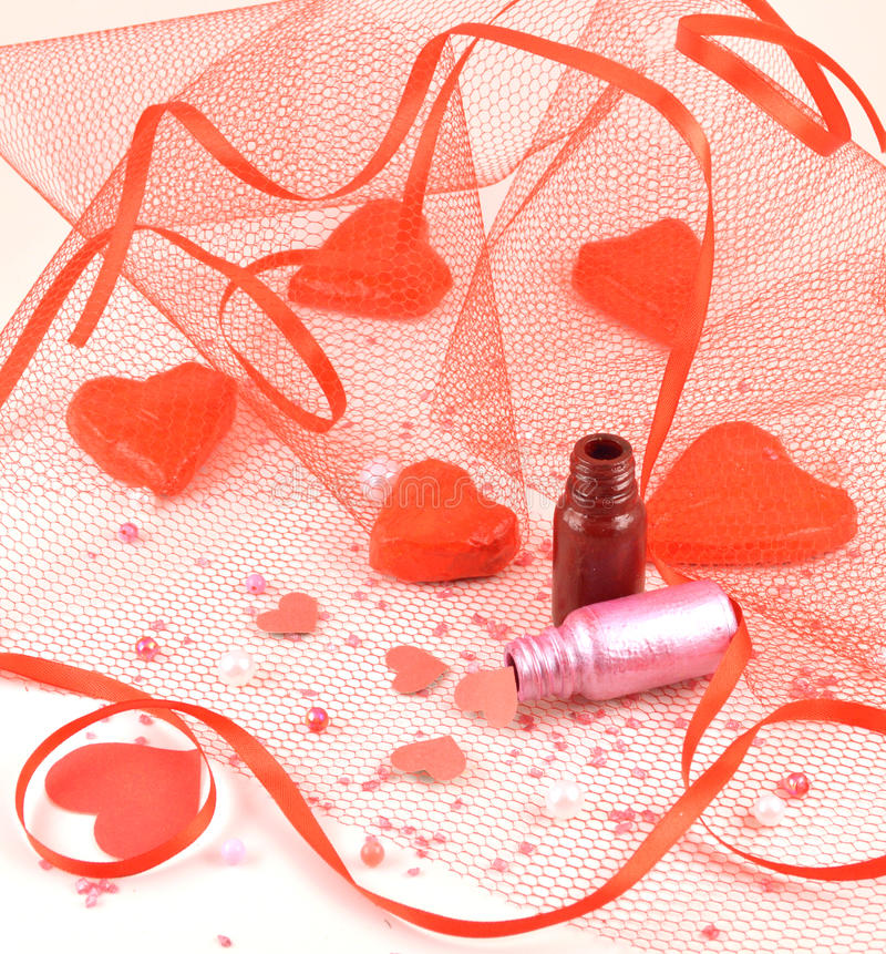 Magic Bottles With Ribbon Stock Image. Image Of Abstract
