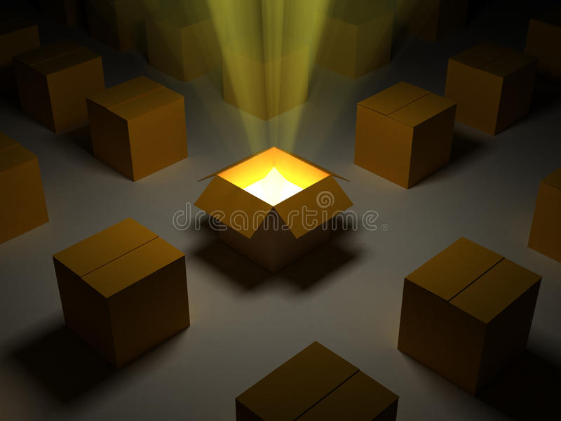 Download Magic Box stock illustration. Image of light, nobody - 11054315