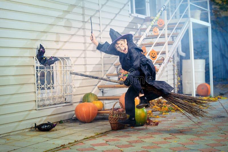 Magic broom royalty free stock photos