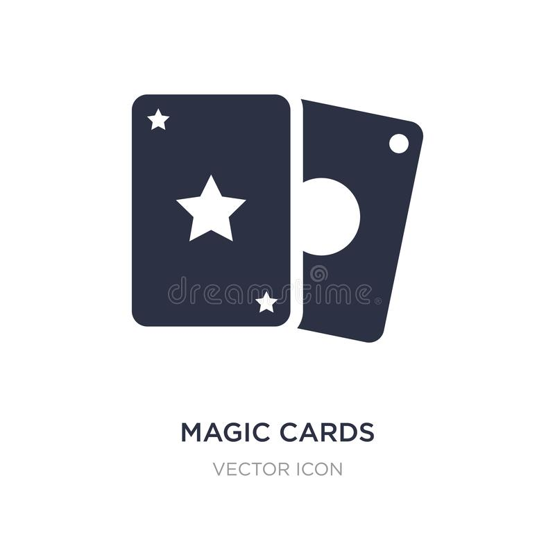 magic cards icon on white background. Simple element illustration from Entertainment and arcade concept vector illustration