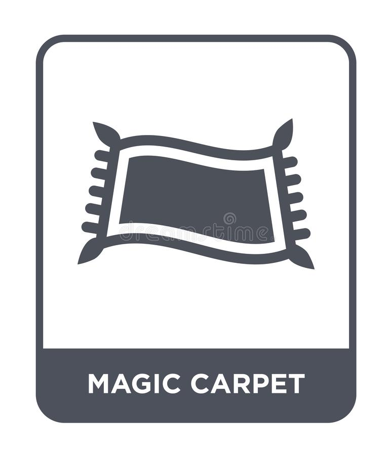 magic carpet icon in trendy design style. magic carpet icon isolated on white background. magic carpet vector icon simple and vector illustration