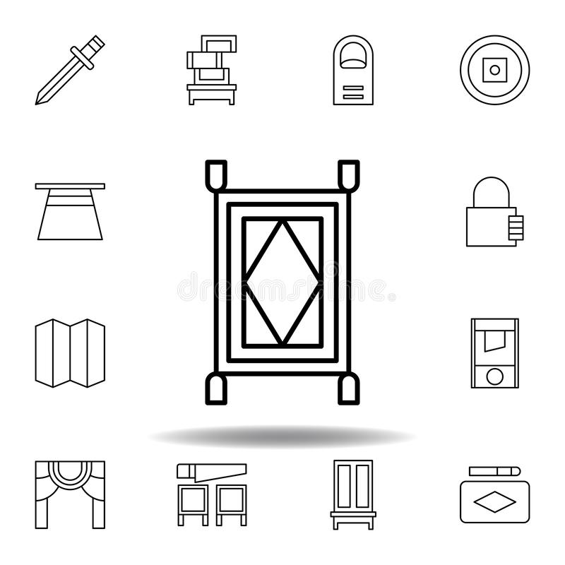 magic carpet outline icon. elements of magic illustration line icon. signs, symbols can be used for web, logo, mobile app, UI, UX vector illustration