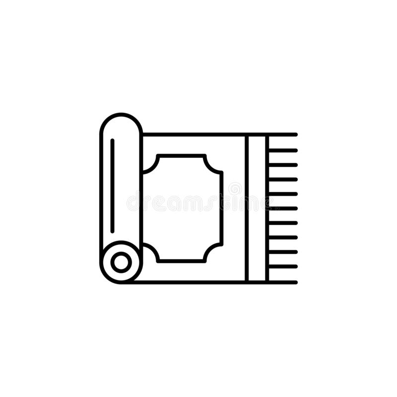Magic carpet outline icon. Signs and symbols can be used for web, logo, mobile app, UI, UX vector illustration