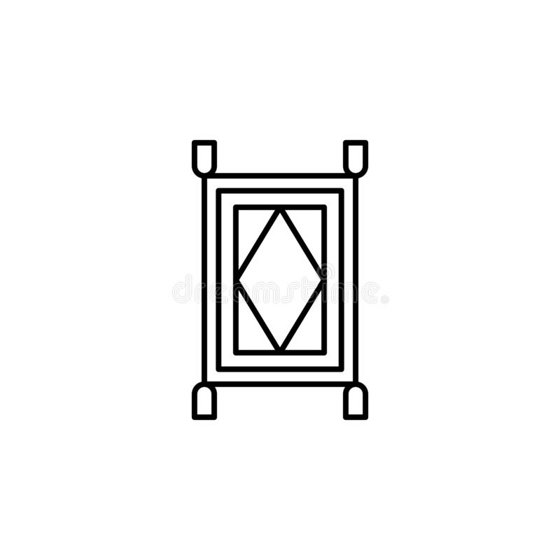 Magic carpet outline icon. Signs and symbols can be used for web, logo, mobile app, UI, UX stock illustration