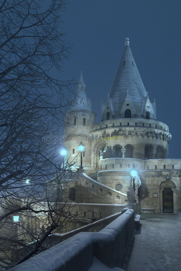 Magic Castle. The real location of this place is Budapest, capital of Hungary and the bulding is the so called Fishermen's Bastion