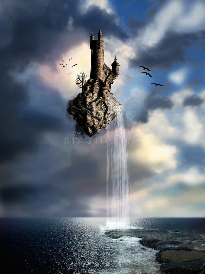 Magic castle stock image