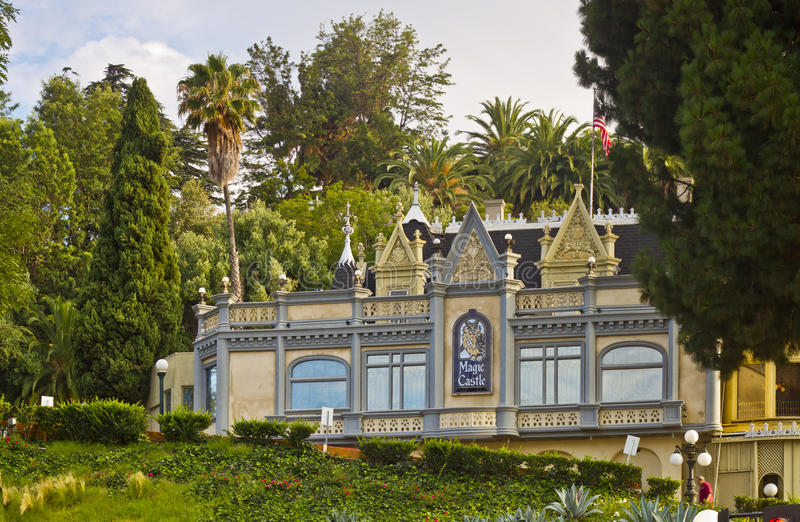 The Magic Castle in Hollywood, California stock image
