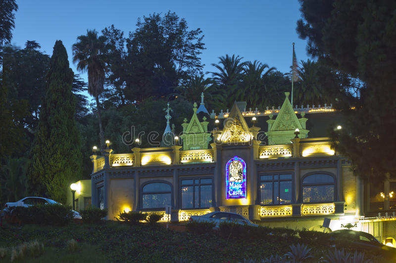 The Magic Castle in Hollywood at Night