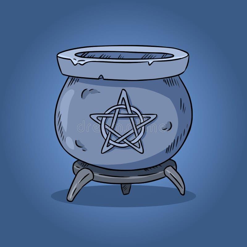 Magic Cauldron Illustration  Hand Drawn Witchcraft Design  Halloween