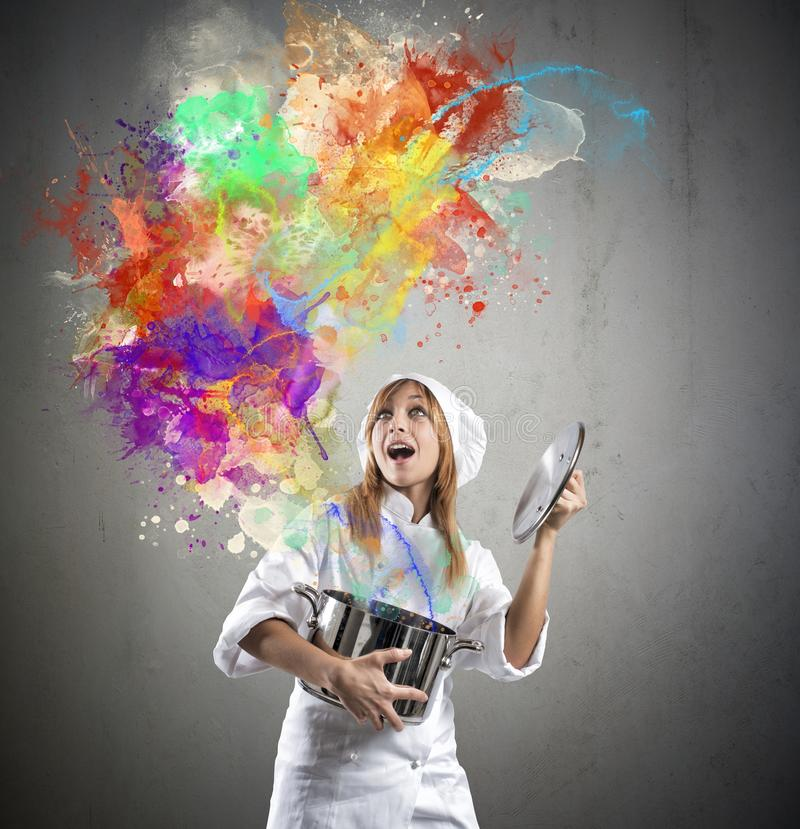Magic chef stock photography
