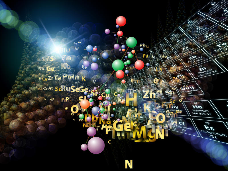 Download Magic of Chemical Elements stock image. Image of composition - 27017901