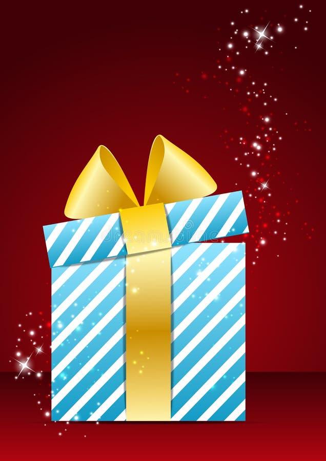 Magic Christmas background. With gift box royalty free illustration