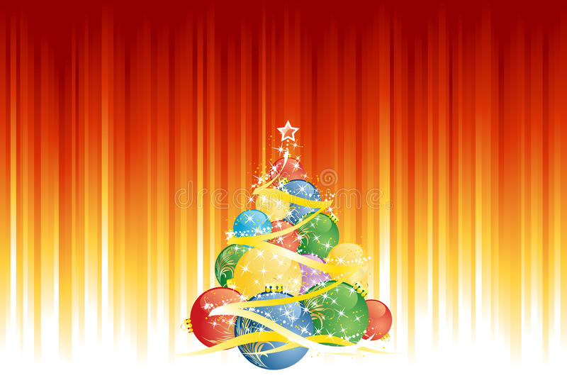 Magic Christmas tree stock illustration