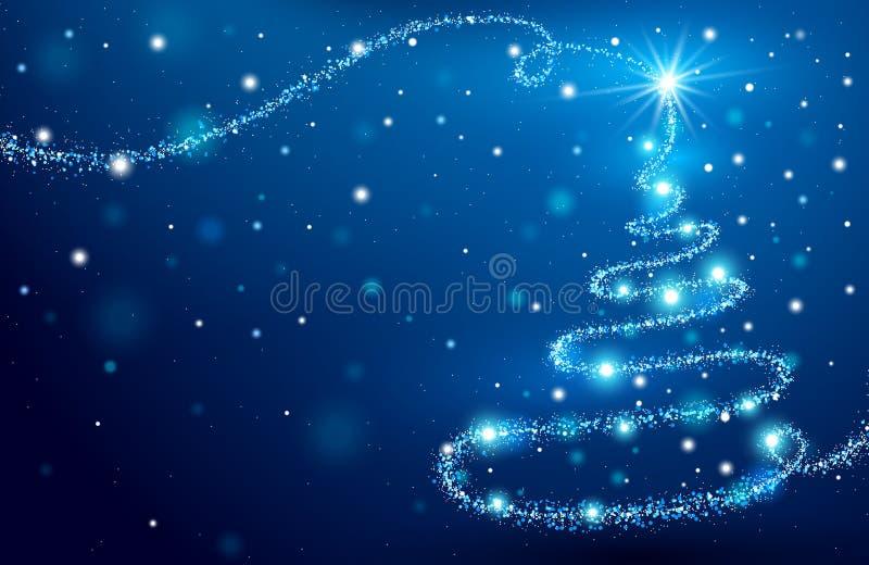 The Magic Christmas Tree vector illustration