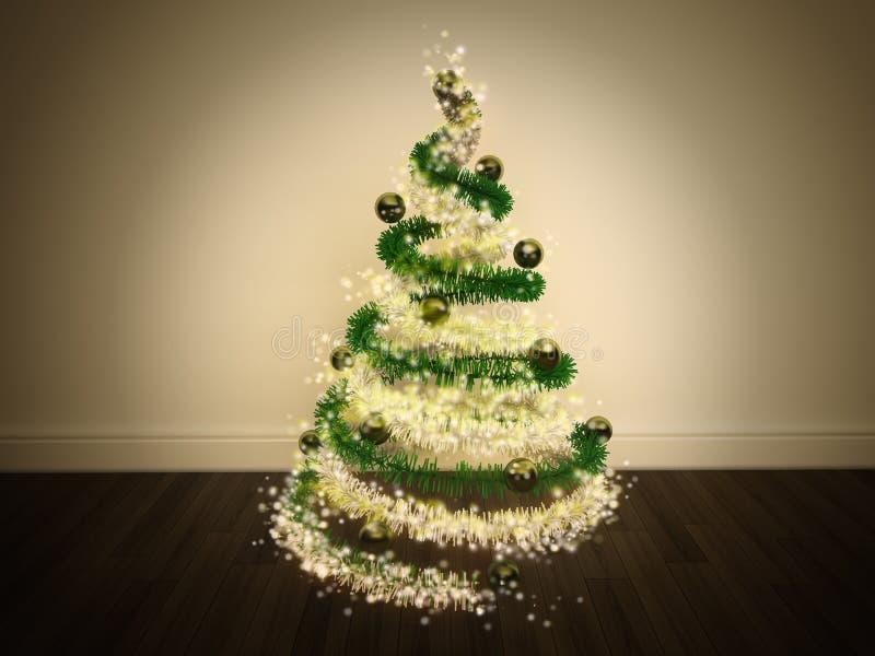 Magic Christmas Tree Decorated vector illustration