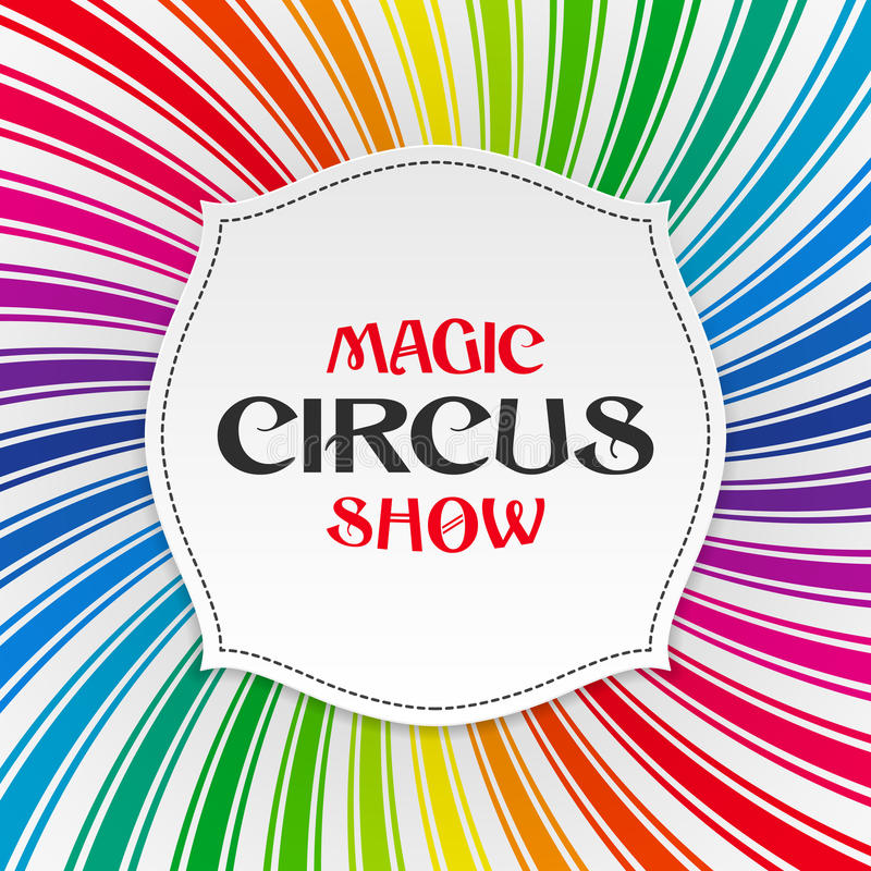Magic circus show poster, background stock illustration