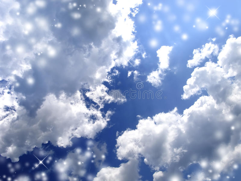Magic Clouds royalty free stock photos