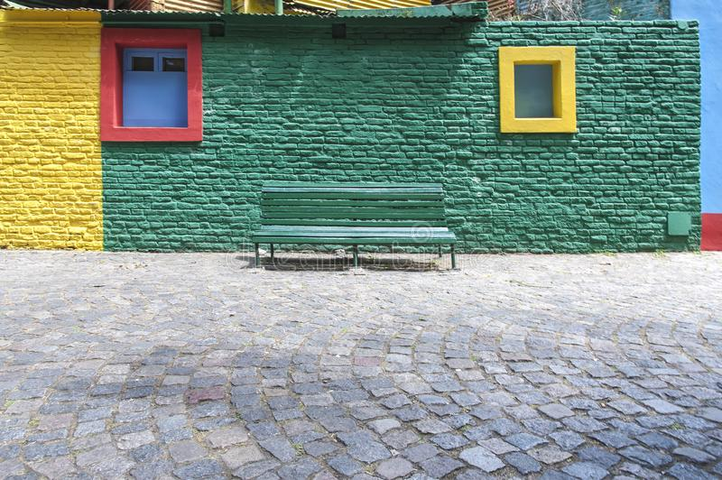 The magic colors of Caminito. Caminito Street, in La Boca, Caminito is one of the most visited tourist attractions in Buenos Aires. Argentina stock photos