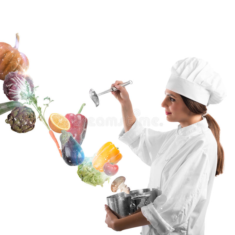 Magic in cooking royalty free stock photos