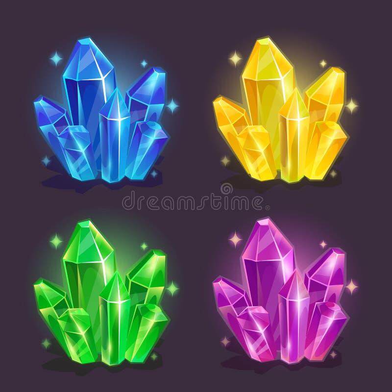 Magic crystals royalty free illustration