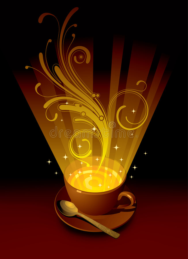 Download Magic cup stock vector. Illustration of drink, shining - 7713537