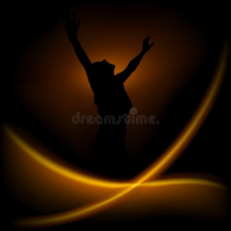 Magic dance royalty free stock photography