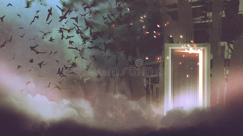 The door to another place stock illustration